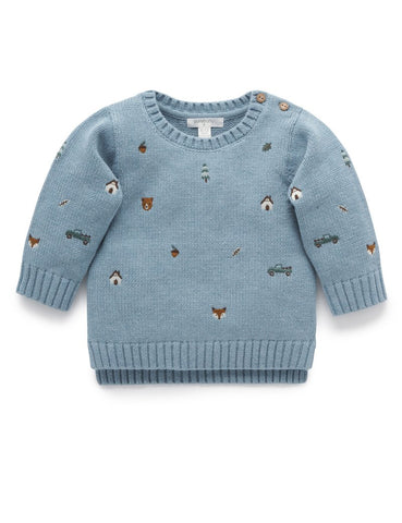 Purebaby - Forest Friends Knit Jumper - August Lane