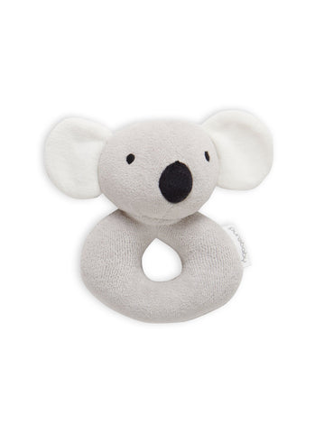 Purebaby - Koala Rattle - Light Grey - August Lane