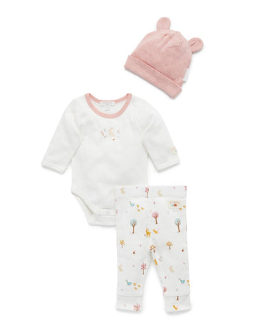 Purebaby - 3 Piece Gift Set - Woodland - August Lane