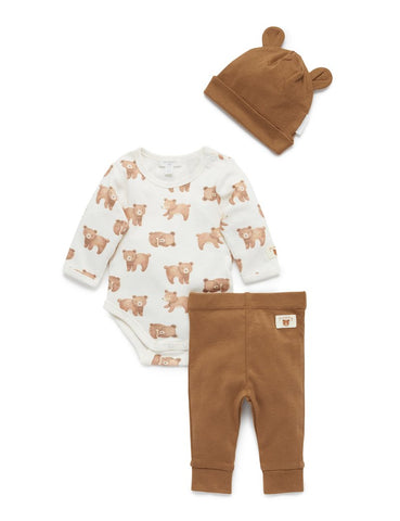 Purebaby - 3 Piece Gift Set - Little Bear - August Lane