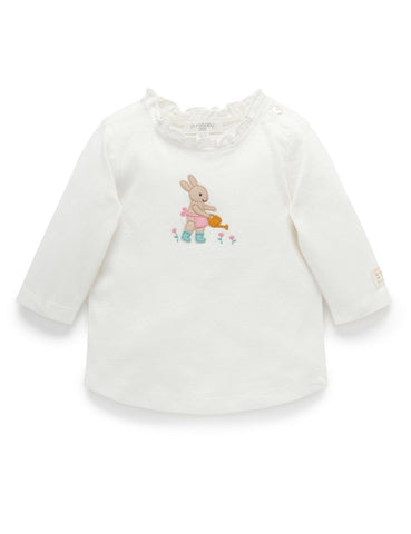 Purebaby - Planting Bunny Tee - August Lane