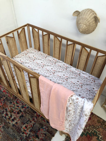 Lunas Treasures - Muslin Cot Blanket - Wild Meadow - August Lane