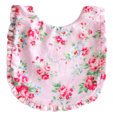 Ruffle Edge Bib - Spring Floral - August Lane