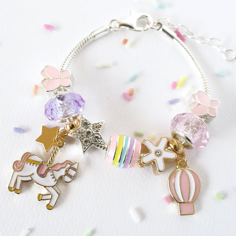 Lauren Hinkley - Unicorn Carousel Charm Bracelet - August Lane