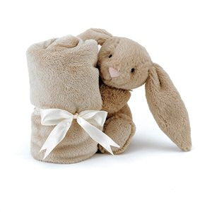 Bashful Bunny Soother/ Comforter - Beige - August Lane