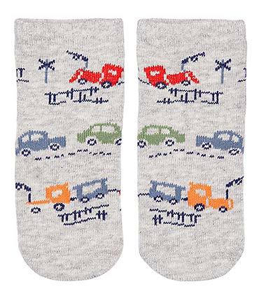 Toshi - Organic Cotton Baby Socks - Broom Broom - August Lane
