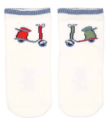 Toshi - Organic Cotton Baby Socks - Scooter - August Lane