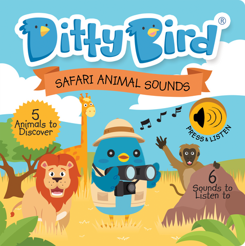 Ditty Bird - Safari Animal Sounds Book - August Lane