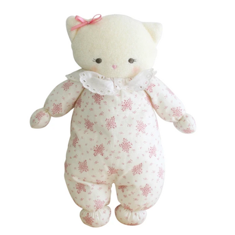 Alimrose - Asleep/Awake Kitty - Ivory Pink - August Lane