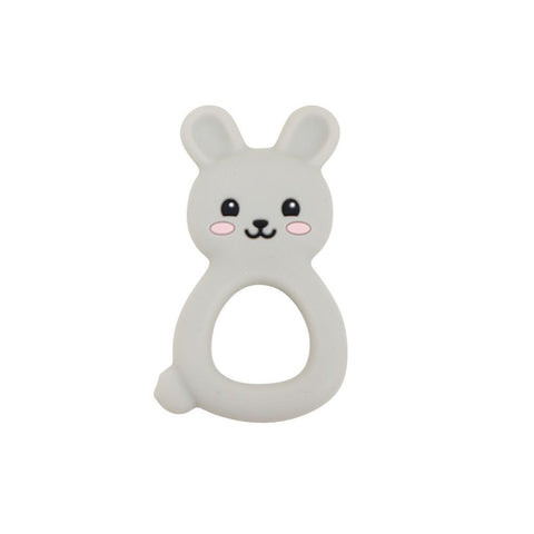Silimama - Bunny Teether - Grey - August Lane