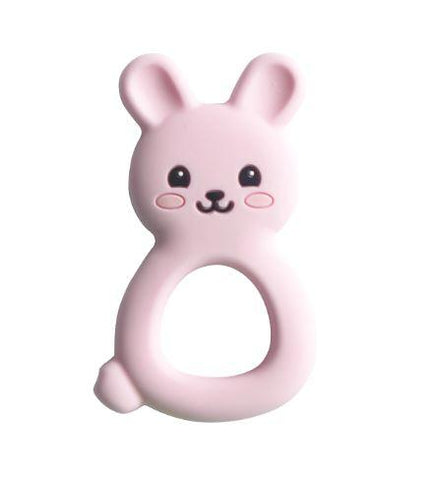 Silimama - Bunny Teether - Pink - August Lane