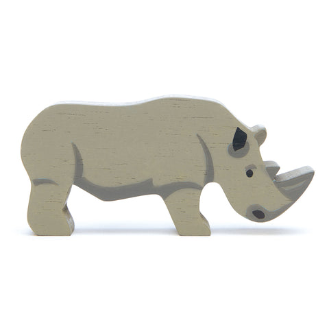 Tender Leaf Toys - Wooden Animals - Rhino - August Lane