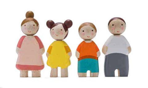 Tender Leaf Toys - Four Wooden People Set - August Lane