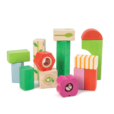 Tender Leaf Toys - Nursery Blocks With Bag - August Lane