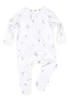 Toshi- Onesie L/S - Leaves - August Lane