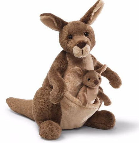 Gund - Jirra Kangaroo With Joey - August Lane