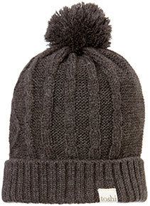 Toshi - Brussels Beanie - Charcoal - August Lane