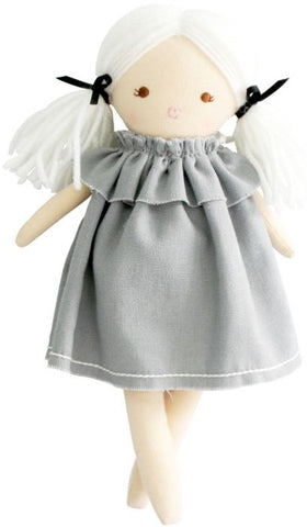 Alimrose- Mini Matilda Doll - 23cm- Grey