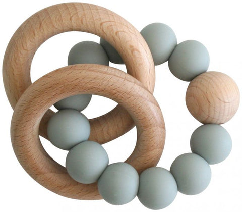 Alimrose- Beechwood Teether Rings Set - Sage