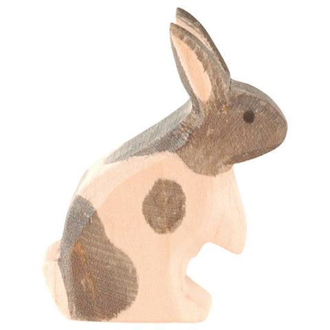 Standing Black & White Rabbit Wooden Animal - August Lane