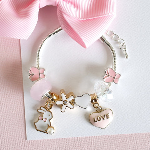 Lauren Hinkley - Bunny Charm Bracelet - August Lane