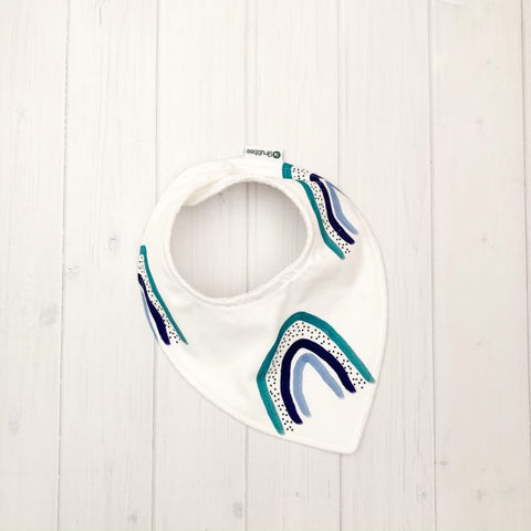 Grubbee - Blue Rainbow Dribble Bib - August Lane