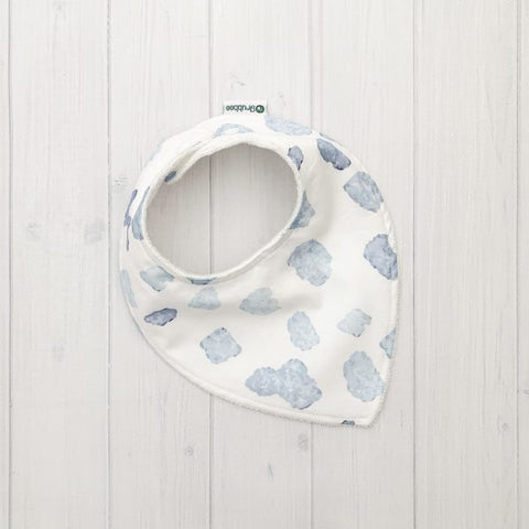Grubbee - Blue Spot Dribble Bib - August Lane