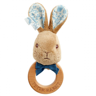 Peter Rabbit - Wooden Ring Rattle - Peter Rabbit - August Lane