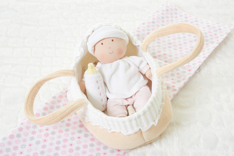 Bonikka - Doll Carry Cot & Baby Set - August Lane