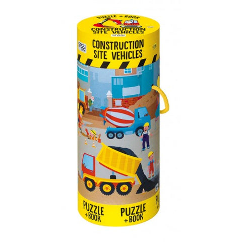 Sassi - 100 Piece Construction Puzzle & Book - August Lane