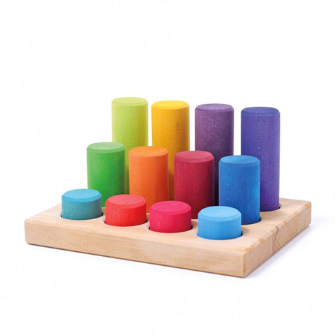 Grimms - Stacking Game Small - Rainbow - August Lane