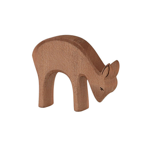 Deer Eating Wooden Animal -small - August Lane