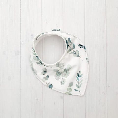 Grubbee - Eucalyptus Leaf Dribble Bib - August Lane