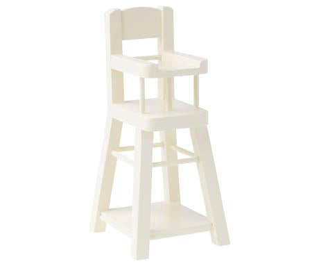 Maileg - High Chair Micro - White - August Lane