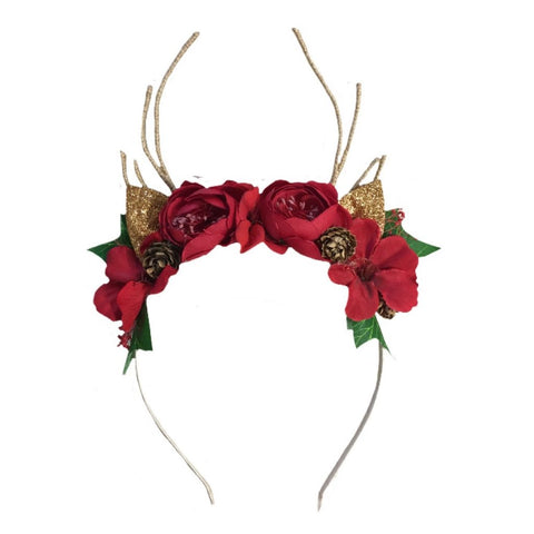 Arch N Ollie - Reindeer Headband - Woodlands Blossom - August Lane