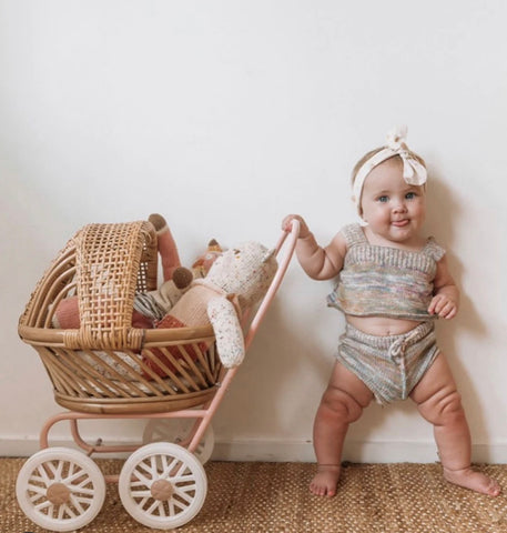 My Darling Valentine - Gigi Pram - Dusty Pink - August Lane