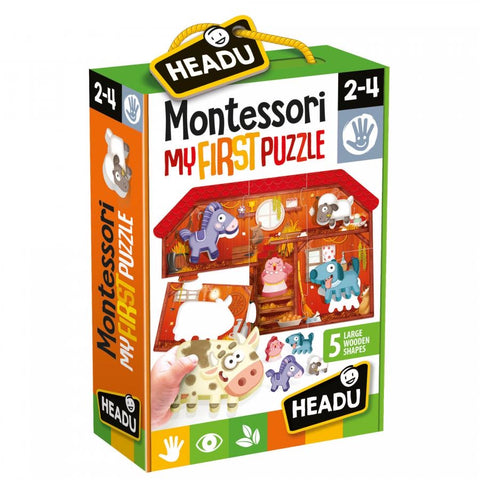 Headu - Montessori First Puzzle - The Farm - August Lane