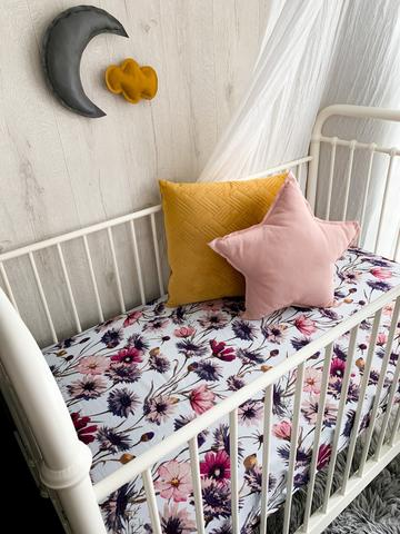 Pop Ya Tot - Muslin Sheets (Bassinet & Cot Sizes) -  All About Aster - August Lane