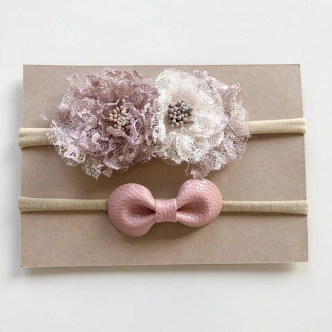 Lunas Treasures - Bellrose Floral & Petite Petal Headbands - August Lane