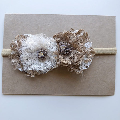 Lunas Treasures - Earth Rose Floral Lace Headbands - August Lane