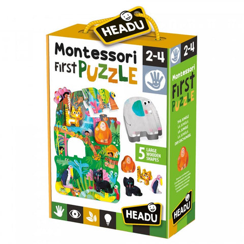 Headu - Montessori - First Puzzle The Jungle - August Lane