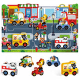 Headu - Montessori- First Puzzle The City - August Lane
