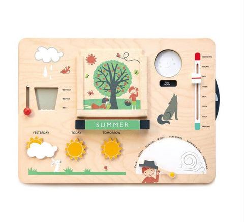 Tender Leaf Toys - Wooden Weather Station - August Lane
