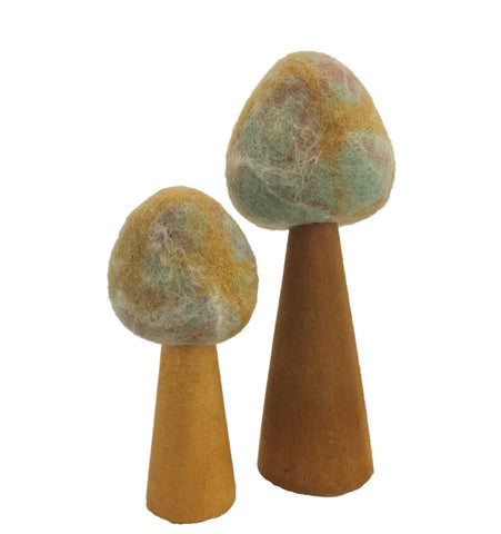 Papoose - Earth Marbled Tree - Set of 2 - August Lane