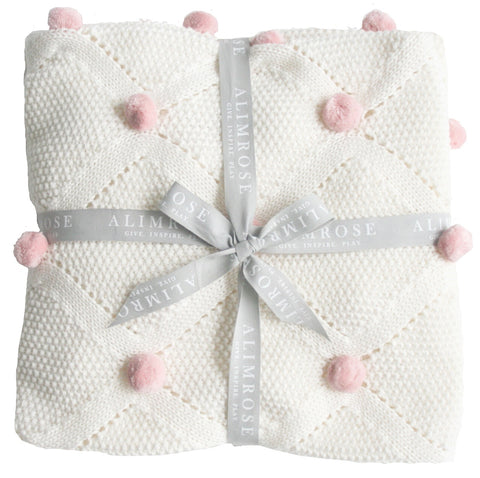 Alimrose -  Pom Pom Blanket - Pink - August Lane