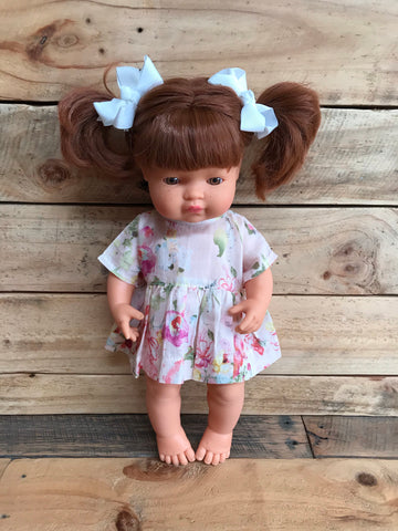 Doll Dress - Peaches & Cream - 34-38cm (Miniland / Minikane) - August Lane