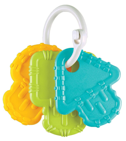 Re-Play - Teether Keys - Aqua/ Green/ Sunny Yellow - August Lane