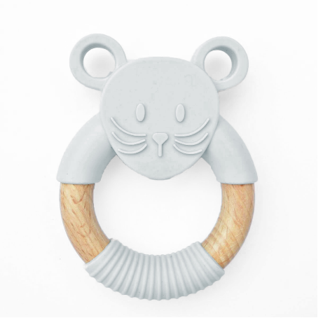 Silimama - Mouse Teether - Mauve - August Lane