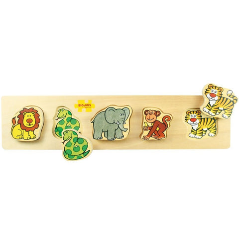 Bigjigs Toys - Chunky Lift And Match Puzzle Safari - August Lane