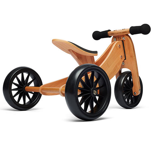Kinderfeets - Tiny Tot 2 in 1 Trike - Bamboo ( Pickup in Store Only Bike is Assembled) - August Lane